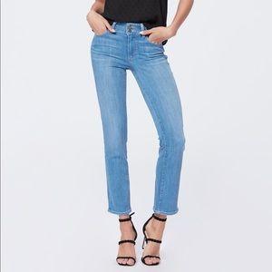 Paige Hidden Hills Straight Leg Jean Brandi Wash